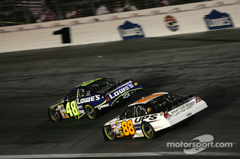 Jimmie Johnson and Dale Jarrett