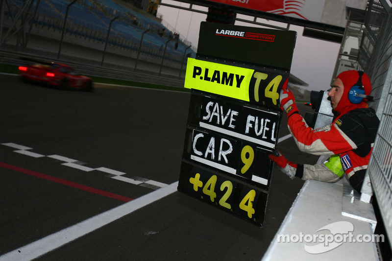 Pitboard message for Pedro Lamy
