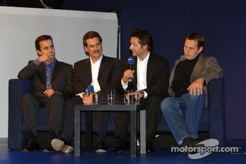 Dr Mario Theissen (BMW Motorsport Director) with Touring car drivers