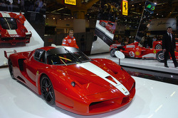 Luca Badoer with the Ferrari FXX