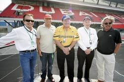 Emerson Fittipaldi, Niki Lauda, Alan Jones, John Surtees and Keke Rosberg