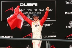 Podium: race winner Neel Jani