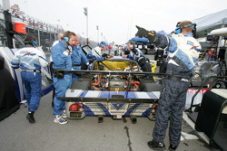 Krohn Racing/ TRG at work behind the pit area