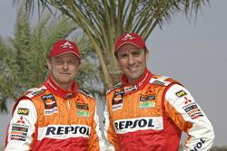 Team Repsol Mitsubishi Ralliart: Stéphane Peterhansel and Jean-Paul Cottret
