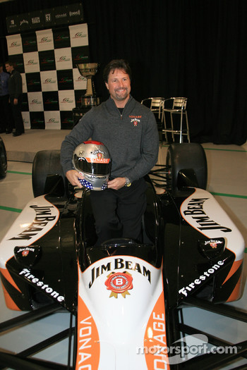 Michael Andretti in the No. 1 Jim Beam Vonage Dallara Honda Firestone that he will drive in the 2006 Indianapolis 500
