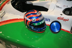 Tony Kanaan's helmet on the No. 11 Team 7-Eleven Dallara Honda Firestone