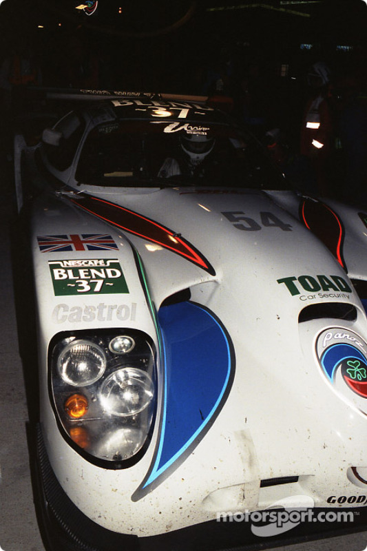 Pitstop for #54 David Price Racing Panoz GTR1: Andy Wallace, James Weaver, Butch Leitzinger