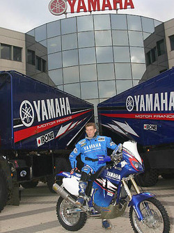 Yamaha Motor France: David Frétigné with his Yamaha WR450F