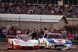 #79 Whitehall Spice Fiero GTP: Skeeter McKitterick, Bill Koll, Tom Winters, #75 Clayton Cunningham Mazda RX-7: Bart Kendall, Johnny Unser Tom Frank