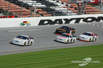 Jamie McMurray, Mark Martin, Carl Edwards and Kyle Petty