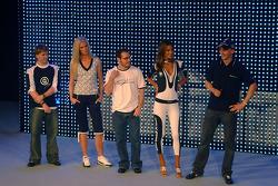 Nick Heidfeld, Christina Kruse, Jacques Villeneuve, Alessandra Ambrosio and Robert Kubica