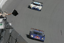 Black flag for #58 Red Bull/ Brumos Porsche Porsche Fabcar: David Donohue, Darren Law, Sascha Maassen