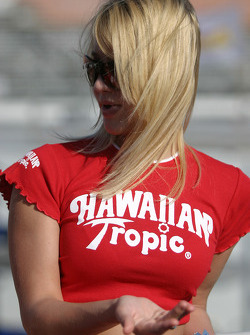 A charming Hawaiian Tropic girl
