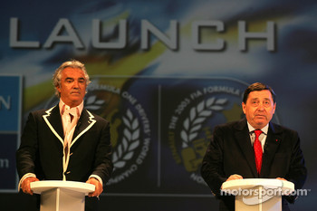 Flavio Briatore and Patrick Faure on stage