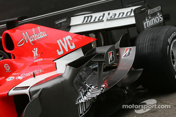 Detail of the new MF1 Racing M16