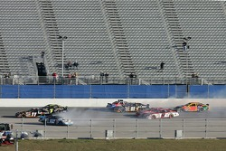 Cars spin and crash on the superstretch