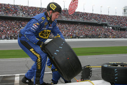 Best Buy chevy crew member gets ready for an unscheduled pitstop