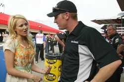 Recording artist Jewel meets Clint Bowyer