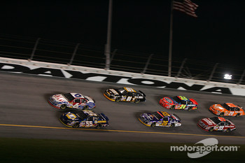 Mark Martin and Michael Waltrip lead the pack