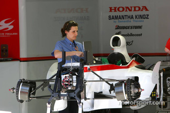 FIA inspects the Super Aguri F1