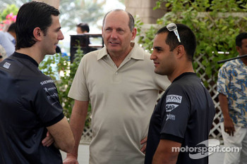 McLaren media breakfast at the Ritz Hotel: Pedro de la Rosa, Ron Dennis and Juan Pablo Montoya