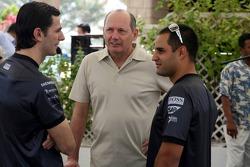 McLaren media breakfast at the Ritz Hotel: Pedro de la Rosa, Ron Dennis and Juan Pablo Montoya