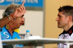 Flavio Briatore and Nick fry