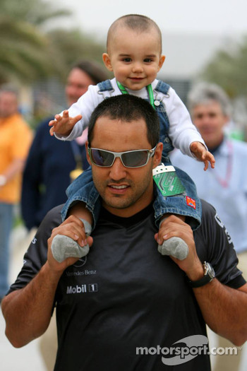 Juan Pablo Montoya and son Sebastien