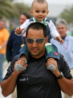 Juan Pablo Montoya and son Sebastien