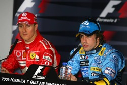 Press conference: Michael Schumacher and Fernando Alonso