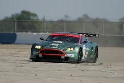 Spin for #007 Aston Martin Racing Aston Martin DB9: Tomas Enge, Nicolas Kiesa, Darren Turner