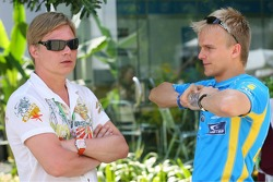 Mika Salo and Heikki Kovalainen