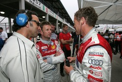 Calvin Fish, Allan McNish and Tom Kristensen
