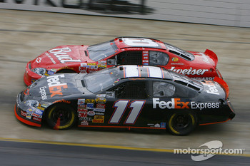 Denny Hamlin and Dale Earnhardt Jr.