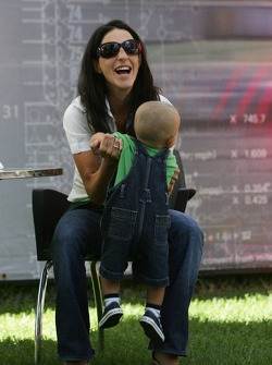 Connie Montoya with son Sebastien