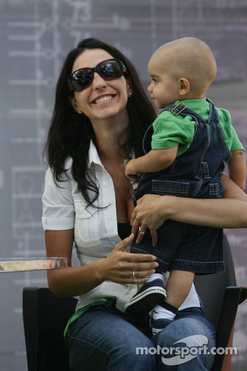 Connie Montoya with son Sebastien