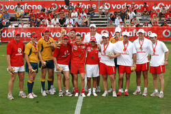 Vodafone Rugby 7s Challenge: Michael Schumacher and Felipe Massa