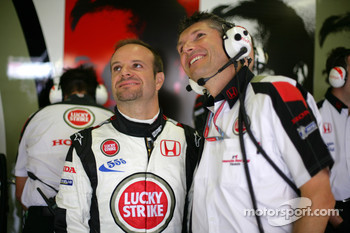 Rubens Barrichello and Nick Fry