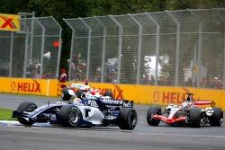 Mark Webber leads Juan Pablo Montoya