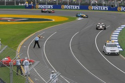 Safety car out after the crash of Felipe Massa