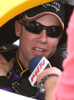 Matt Kenseth gives a last minute radio interview