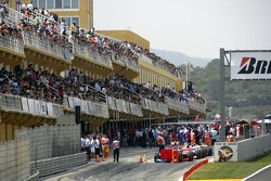 Cars start from pitlane