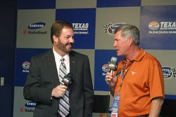 Eddie Gossage and Mack Brown