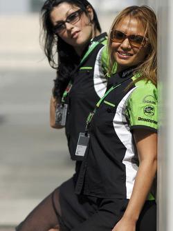 The lovely Kawasaki girls