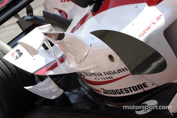 New aerodynamic package on the Super Aguri F1 SA05