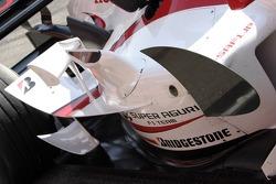 New aerodynamic package on the Super Aguri F1 SA05