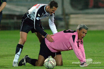 Champions for Charity football match, Ravenna's Benelli Stadium: Michael Schumacher