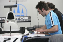 Trident Racing prepare their cars