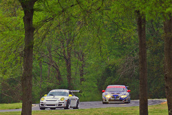 #81 Synergy Racing Porsche GT3 Cup: Steve Johnson, Robert Nearn, #65 TRG Pontiac GTO.R: Marc Bunting, Andy Lally, RJ Valentine