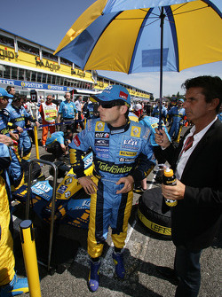 Giancarlo Fisichella and manager Enrico Zanerini